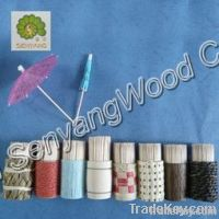 disposable birch/bamboo wood double points cocktail toothpicks