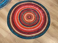 Baykilim 100x100cm Jut Digital Print Decorative Non-Slip Floor Rug