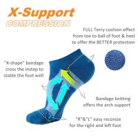 [DeParee] X Shape Arch Support Sporty No Show Socks-L