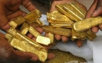 Gold dory Bars, Gold Dust and Gemstones