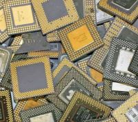 CHEAP CPU CERAMIC PROCESSOR SCRAP WITH GOLD PINS Available
