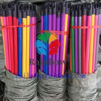 2020 Hot Selling PVC coated Wooden Stick With Italian Thread Plastic Broom Handle