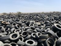 Used Tire Bales