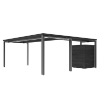 Modern L-Shaped Desk-Computer Corner Desk Gaming Office PC Table, Sturdy Simple Industrial Style Home Office Writing Workstation