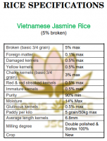 Vietnamese Rice - Jasmine Rice - 5% broken