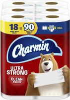 Pay with PayPal for Charmin Ultra Strong Clean Touch Toilet Paper, 18 Family Mega Rolls