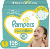 Brand New Pampers Swaddlers Disposable Baby Diapers 198 Count