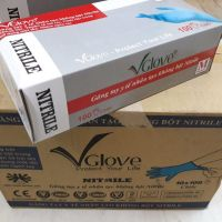 Wholesales Vglove Nitrile Powder Free Nitrile Examination Gloves 100pcs/box