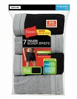 Hanes Men's Boxer Briefs 7-Pack ComfortSoft TAGLESS FreshIQ Flex Waistband Grey