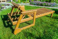 Wooden sun lounge