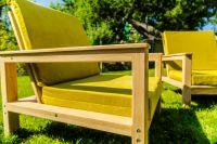 4-piece Garden Lounge Set Ash/Oak