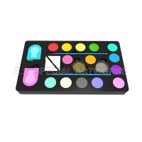ES-PO-013 14 customized colors and 2 brushes 2 Glitter 2 Sponges 2 Hair Chalk