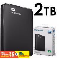 WD Original 500G 1TB 2TB External Hard Disk ,2.5'' Portable HDD Elements