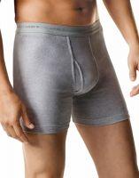 Hanes FreshIQ ComfortSoft Boxer Brief for Men, Size XXL - Black/Grey