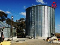 Assembly hot galvanized grain steel silo