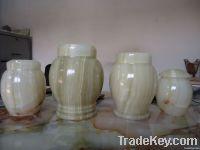 Green onyx Funeral urn Ash Jar