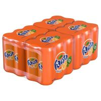 Fanta - 24 X 330ml Carbonated Can Tinned Soda Orange Fruity Flavor