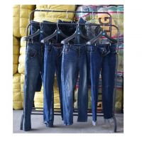 Second hand ladies jeans pants in bulk/used clothing jean used clothes