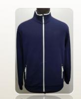 Custom logo black heavyweight zip up Jacket unisex 100% cotton blank full face zip casual jacket for men