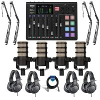 Rode Microphones RODECaster Pro Integrated Podcast Production Console W-ACC KIT