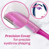Schick Hydro Silk Touch-Up Multipurpose Exfoliating Dermaplaning Tool, Eyebrow Razor, and Facial Razor with Precision Cover,