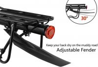 Bicycle Cargo Rack Mountain Bike Fender Board Quick Release Carrier Rear Rack Alloy Black