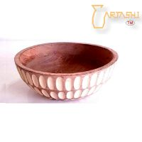 Large handmade designer bowl wooden
