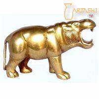Handmade Hippopotamus made in pure brass