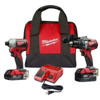 Milwaukee M18 18-Volt Lithium-Ion Brushless Cordless Hammer Drill/Impact Combo Kit with 2