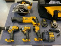 For New DEWALT 20V 20 Volt XR Drill, recip, flashlight , battery set