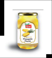 Organic Pineapple - bottled (cubed and bottled in syrup)