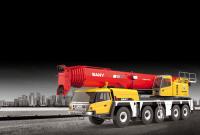 SAC2500S SANY All Terrain Crane 250T Lifting Capacity Strong Boom Powerful Chassis