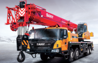 STC500T5 SANY Truck Crane 50T Lifting Capacity Strong Boom Powerful Chassis