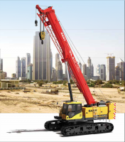SCC1300TB Telescopic Crawler Crane 130 Tons Lifting Capacity Strong Boom Powerful Chassis