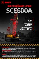 SCE600A Sany Crawler Crane 60 Tons Lifting Capacity