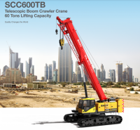 SCC600TB Telescopic Crawler Crane 60 Tons Lifting Capacity Strong Boom Powerful Chassis