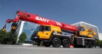 STC800S SANY Truck Crane 80 Tons Lifting Capacity Thailand Jib side positioned