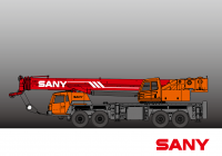 STC800S SANY Truck Crane 80 Tons Lifting Capacity All wheel steering