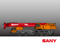 STC1000C SANY Truck Crane 100 Tons Lifting Capacity