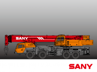 STC1000S SANY Truck Crane 100 Tons Lifting Capacity