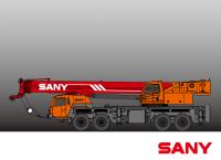 STC800 SANY Truck Crane 80 Tons Lifting Capacity All wheel steering