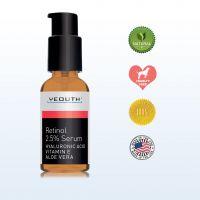 Retinol Serum 2.5% with Hyaluronic Acid, Aloe Vera, Vitamin E - Boost Collagen Production, Reduce Wrinkles, Fine Lines, Even Skin Tone, Age Spots, Sun Spots - 1 fl oz -