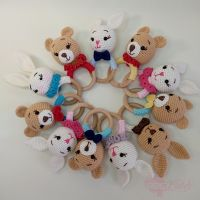 Hand Knitted Rattle Sets for Babies