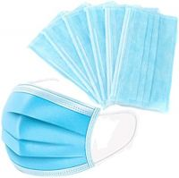 Nonwoven 3 ply 50PCS/Box Earloop Disposable Face Mask