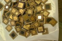 Ceramic CPU Processor Gold Scrap / AMD 486 CPU and 586 CPU SCRAPS