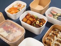 disposable tableware /New product recommendation, kraft paper square lunch box