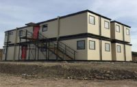 Modular Flat Pack Modified Container House With Ladders Two Storey Building