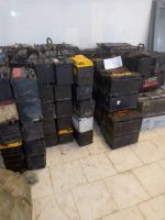 lead plates from used car batteries