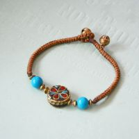 Nepalese Pearl traditional handmade braiding Bracelet - MC782-1