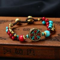A Nepalese Pearl traditional handmade braiding bracelet.